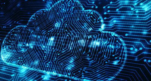 Cloud computing illustration.